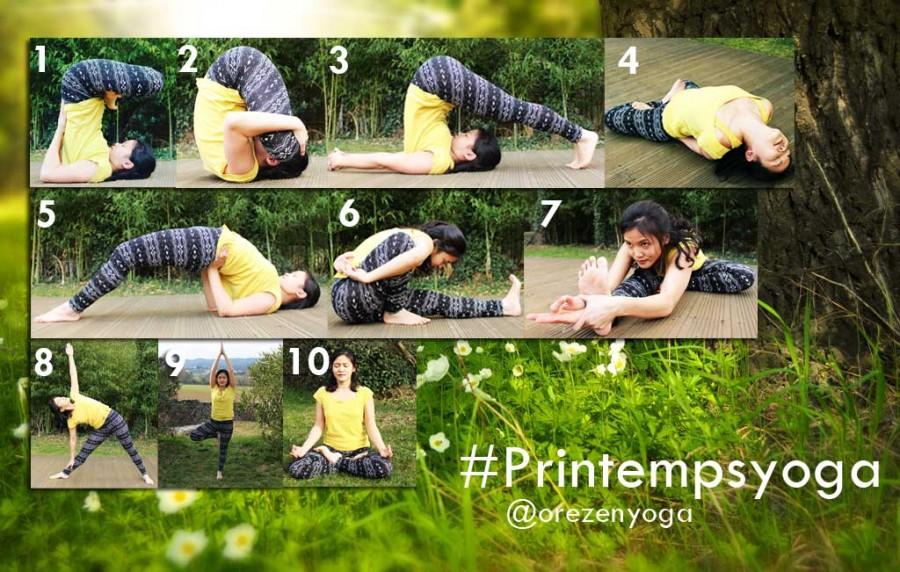 Challenge yoga : #Printempsyoga