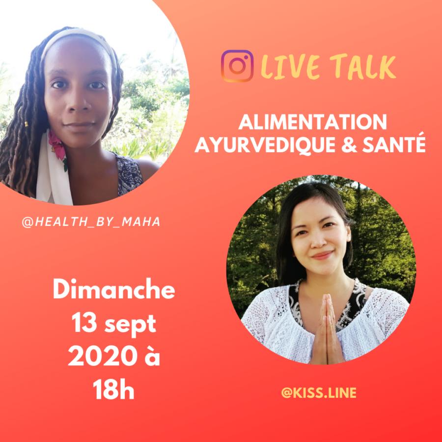 En replay : Livetalk sur l'alimentation ayurvédique et la santé