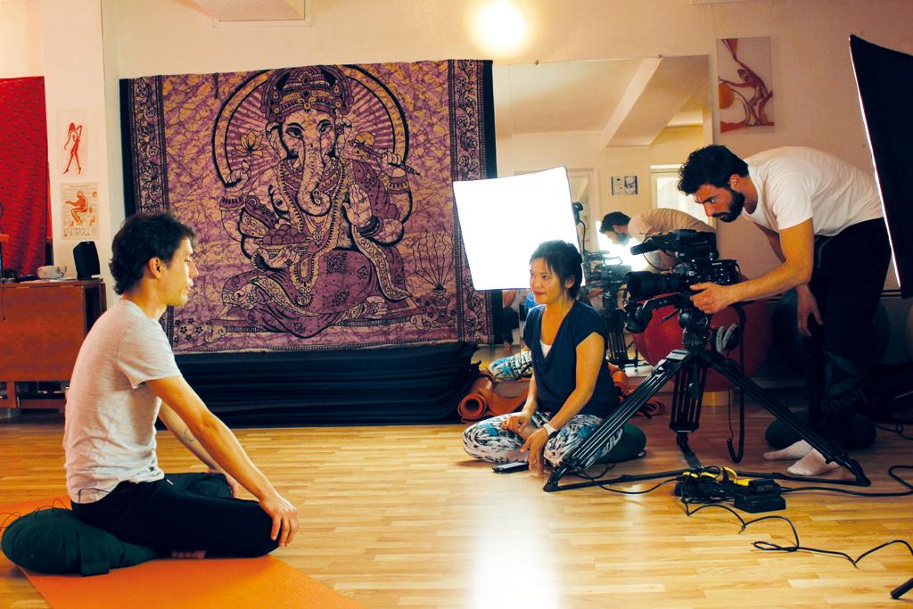 Yoga pour Tous photoshooting