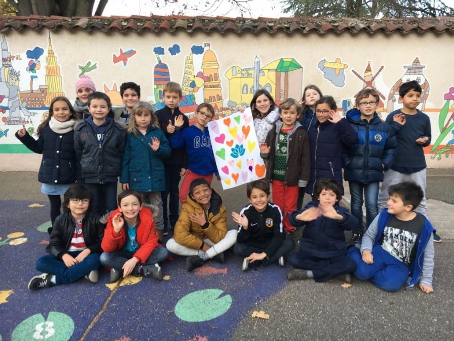 Namaste et merci des élèves de CE2 de Charles Démia