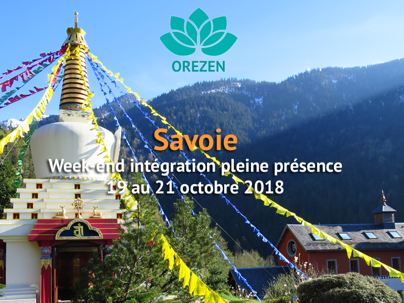 Week-end intégration pleine présence en Savoie