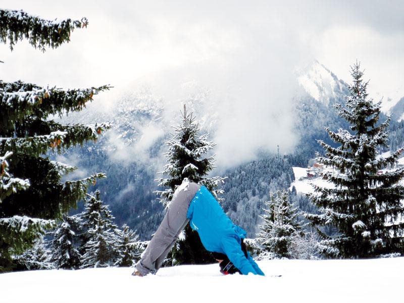 Les postures yoga pour cet hiver