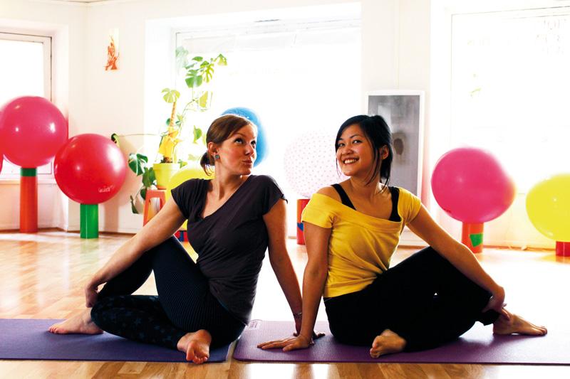 Partager sa passion du yoga