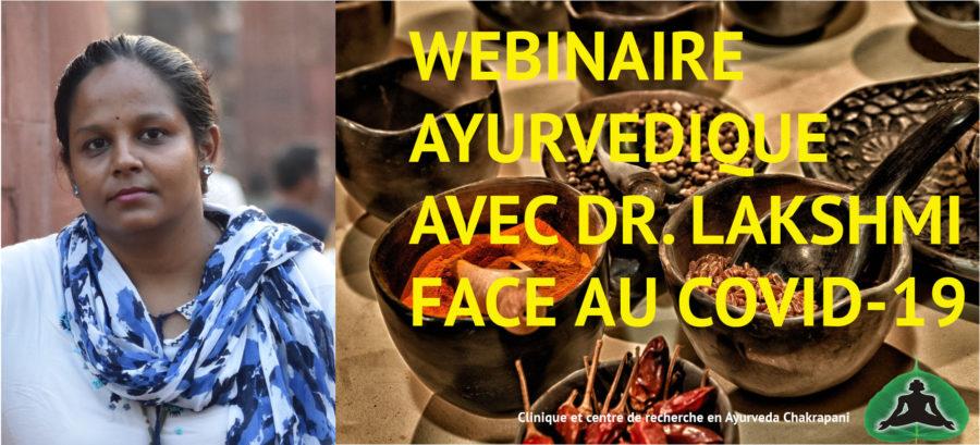 Webinaire ayurvédique avec Docteur Lakshmi face au Covid-19