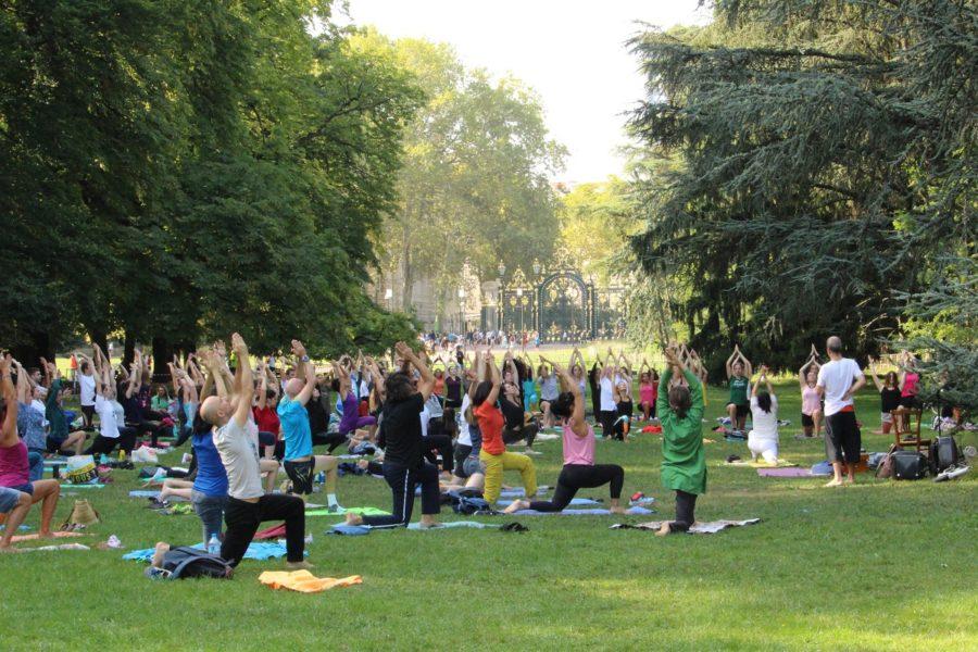 Yoga au parc de la tête d'or gratuit en septembre