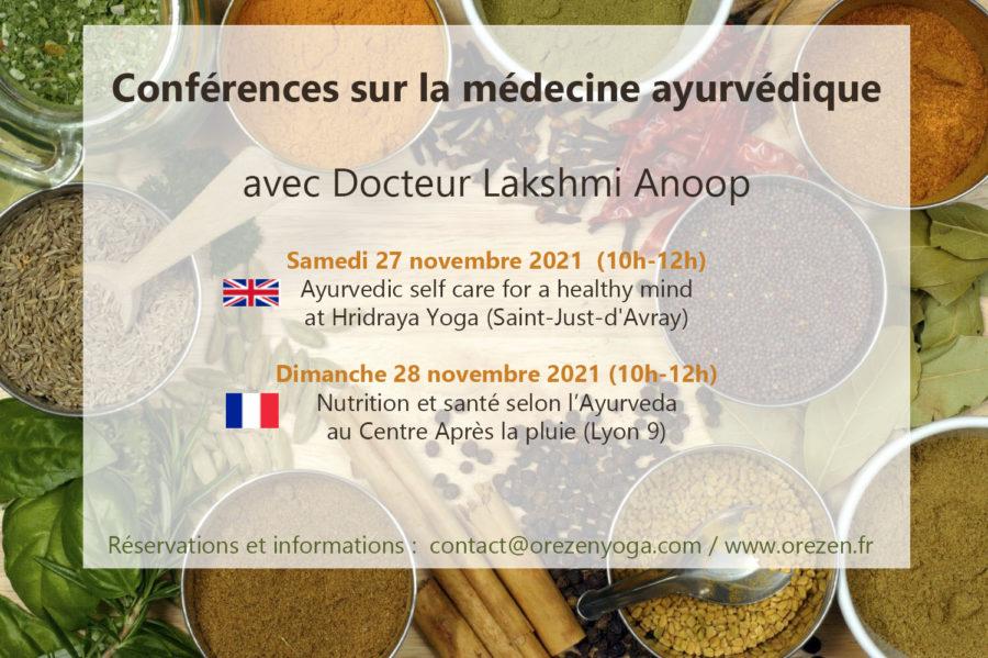 Conférence sur la médecine ayurvédique avec un docteur en Ayurveda